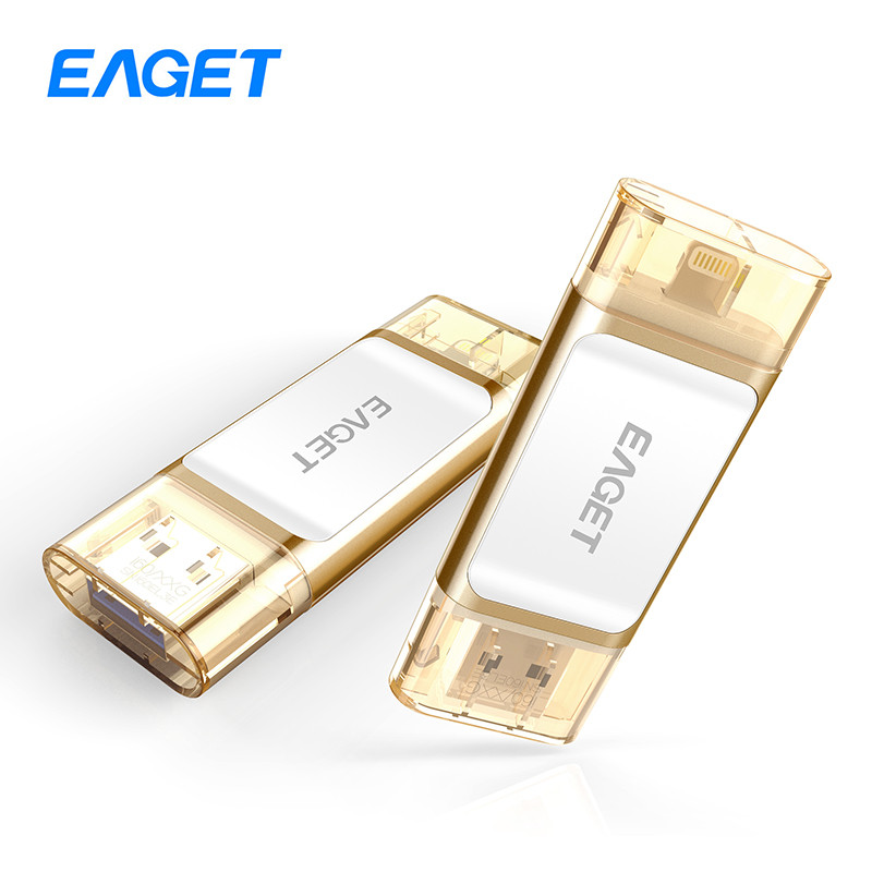Eaget i60 OTG USB 3.0 100% 32GB Flash Drives Pen Drive Memory Stick For iOS PC Tablet Pendrive U Disk For iPhone Pass H2testw