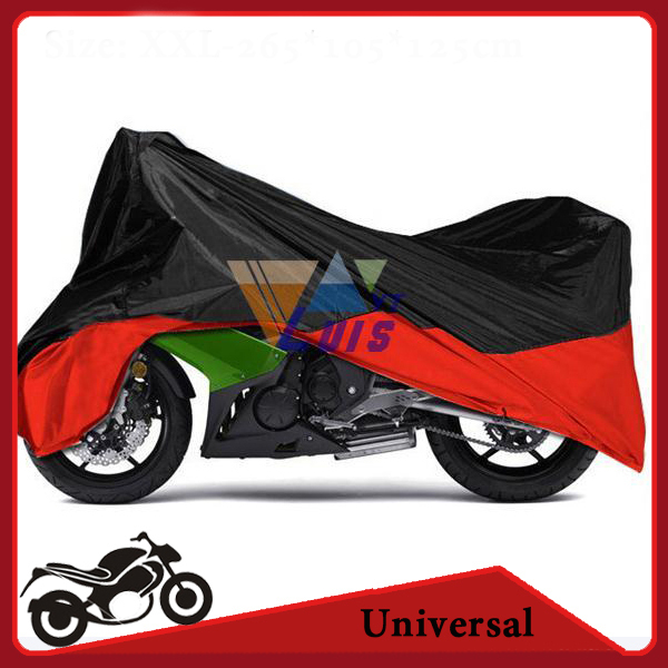Motorcycle Cover XXL 265*105*125cm Waterproof Dustproof Scooter Cover UV resistant Heavy Racing Bike Cover Polyester(China (Mainland))