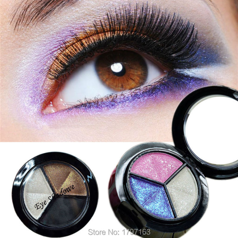 Eyeshadow Eye Shadow Palette Smoky cosmetic set 3 colors professional natural matte Makeup Naked Nude Glitter(China (Mainland))