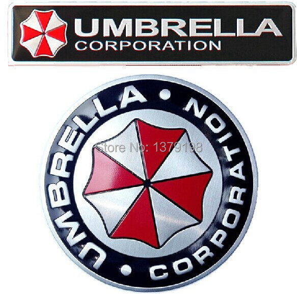 3D Aluminum Umbrella corporation car sticker accessories stickers ford focus chevrolet cruze kia rio skoda octavia  -  Auto Sticker store