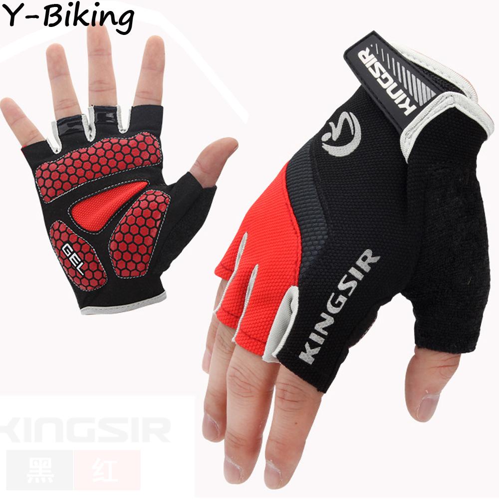 Fashion Half Finger Glove Cycling Riding MTB Bike Bicycle Silicone GEL Shockproof Sports Gloves YB-WZOY-01(China (Mainland))