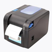 New USB barcode Label printer support adhesive sticker qr printing for supermarket & vendor price sticker printer machine 370B(China (Mainland))
