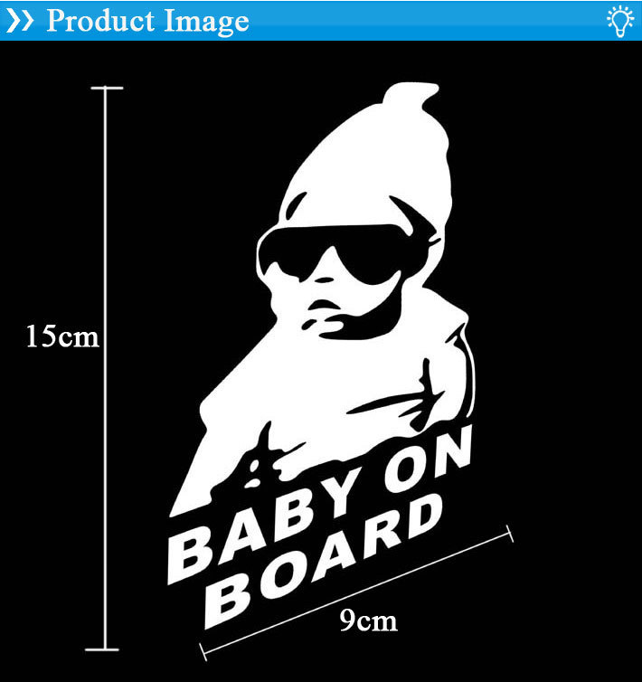 20 pcs/lot Reflective Car Styling BABY ON BOARD Personalized Waterproof Warning Vinyl Decal Sticker Motorcycle Stickers - Honesty Boutique CO.,LTD store