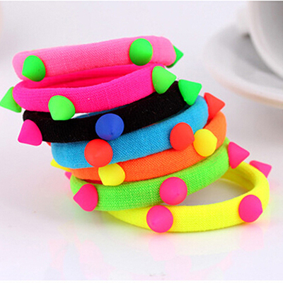 1Fluorescent Ponytail Holders Elastic Rope Girls Women Rubber Bands Ties Gum Hair Super Headbands - Love Yan store