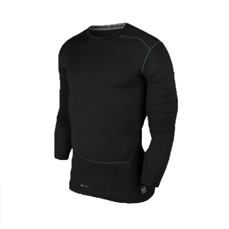 Men Boy Base Layer Tight Top Shirt Under Skin Quick Dry Compressed Breathable Flexible Long Sleeve O Neck Sport Gear Jerseys(China (Mainland))