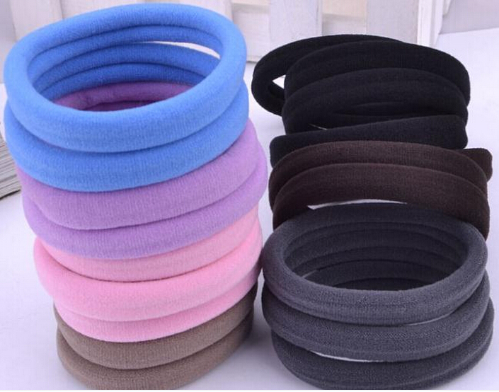 TS 50pcs lot Candy Colored Hair Holders High Quality Rubber Bands Hair Elastics Accessories Girl Women