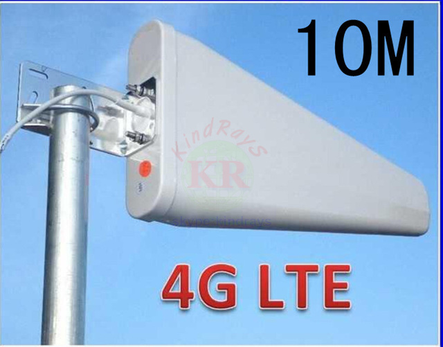 100% 11dbi 10m sma 3g 4G antenna 698-2700Mhz 4g outdoor LDP panel WCDMA booster huawei b593 e5172 - Great shops store