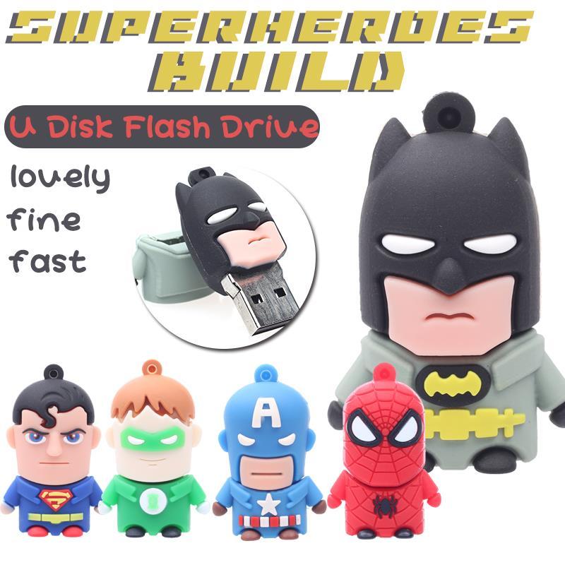 Superman Spiderman Batman Special offer America Captain 8GB 16GB USB Flash Drive  usb sitck card 32GB pen drive 64GB pendrive<br><br>Aliexpress