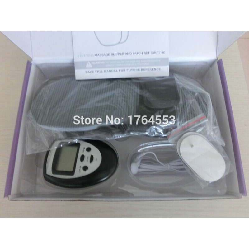 Health Care Digital Therapy Full Body Massager Slimming Electric Slim Pulse Tens Acupuncture With Therapy Slipper + 4pads(China (Mainland))