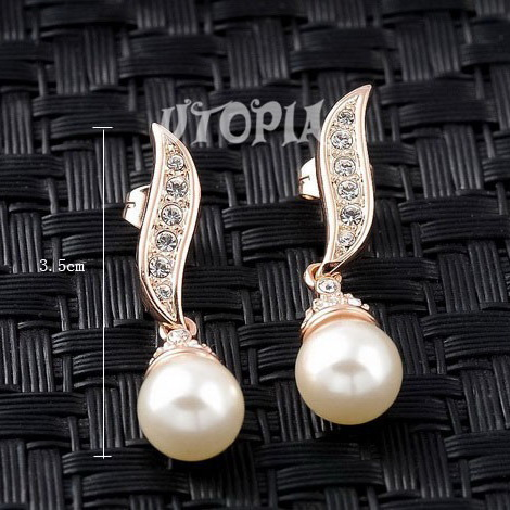 Sold more than 10,000sets!  Gift For Woman 18K Gold Plated Pearl Wedding African Jewelry Earrings Necklace Sets #CL04S