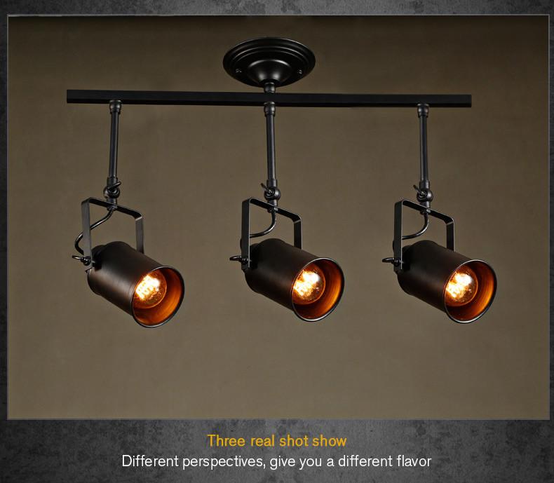 Modern Led Track Spotlights Clothing Stores Modeling: Loft Bar Clothes Store Pendant Light Hanging Track Lights