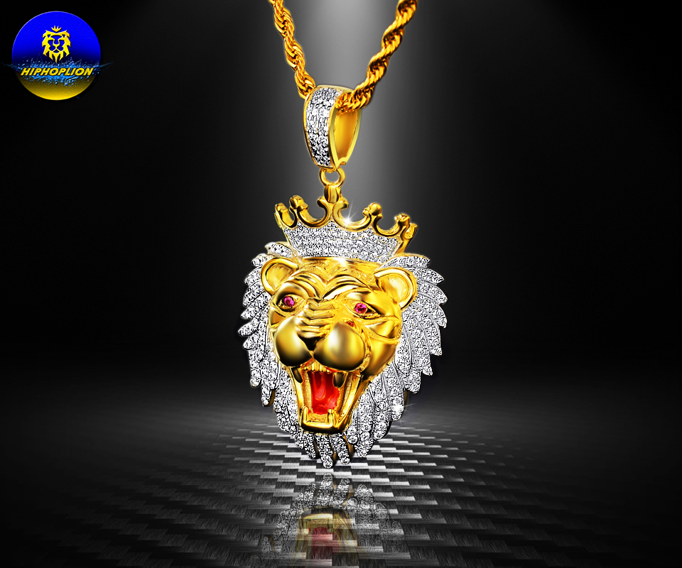 HipHopLion 925 sterling silver Luxurious AAA Zircon mosaic, Angry lion head, heavy Pendant Necklace, Weight 17.2g men jewelry(China (Mainland))