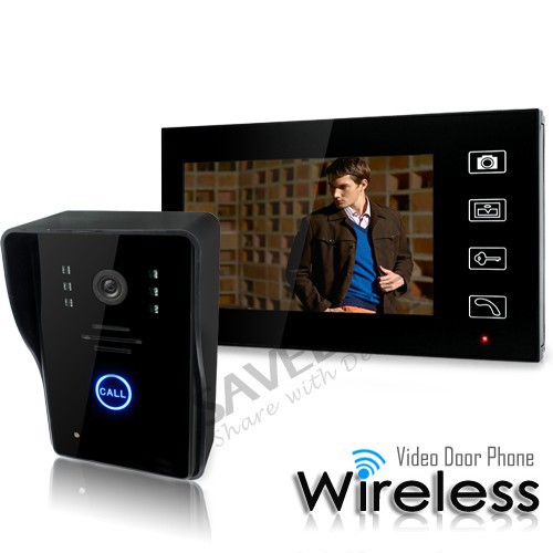 "7"" Tft Lcd Video Wireless Door Phone Doorbell Home Security Intercom & Touch Key(China (Mainland))"