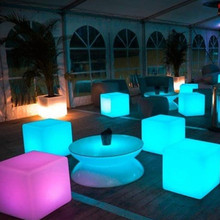 40cm LED cube chair for outdoor party/Led Glow Cube Stools Led Luminous Light Bar Stool Color Changeable 40cm(15.8'')(China (Mainland))