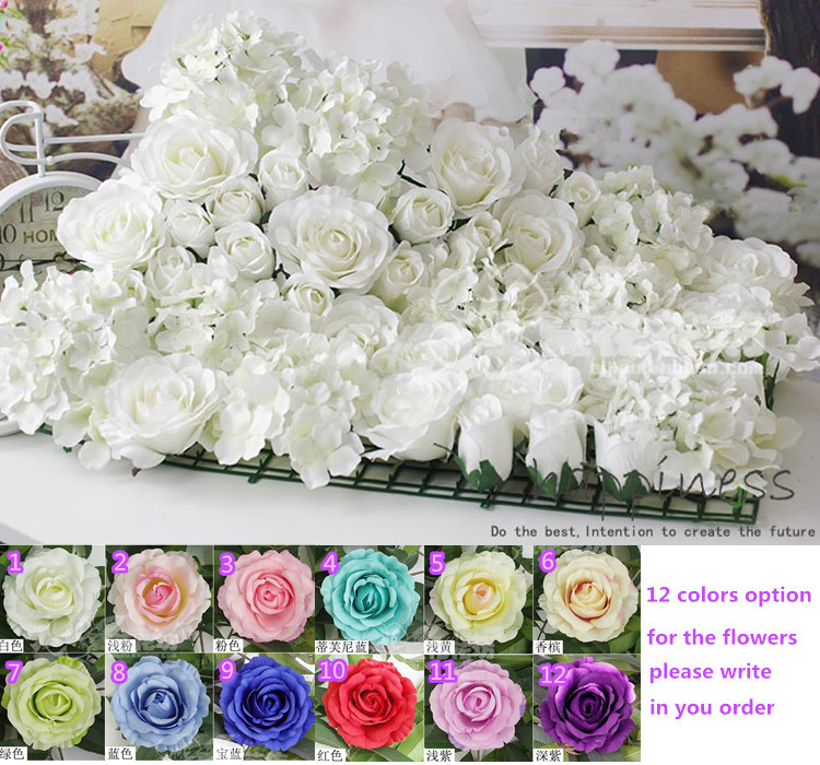 Free Shipping 10pcs/lot Artificial silk rose flower wall wedding background lawn/pillar flower road lead home market decoration(China (Mainland))