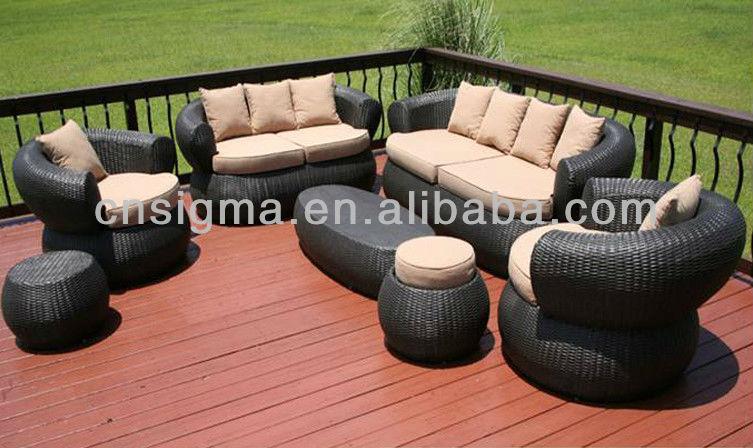 2017 Bali Style 7Pc Outdoor Furniture Sofa Set Wicker Rattan Furniture Comfortable Garden Furniture(China (Mainland))