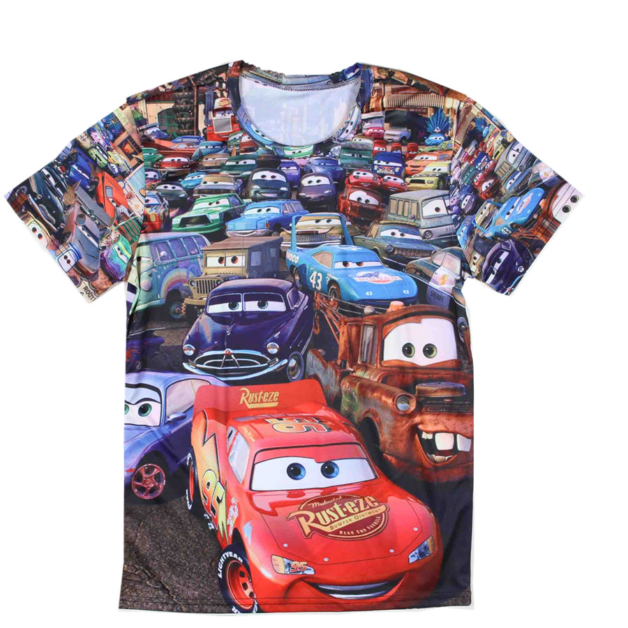 2015 Top Quality Animated Movie Cars Tshirt Mens Cotton Short Sleeve Funny Cartoon Wall-E T Shirts Print(China (Mainland))