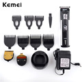 Rechargeable Hair Trimmer 3 Trim Heads 7 Limited Combs Professional Electric Shaver For Men Hair Clipper