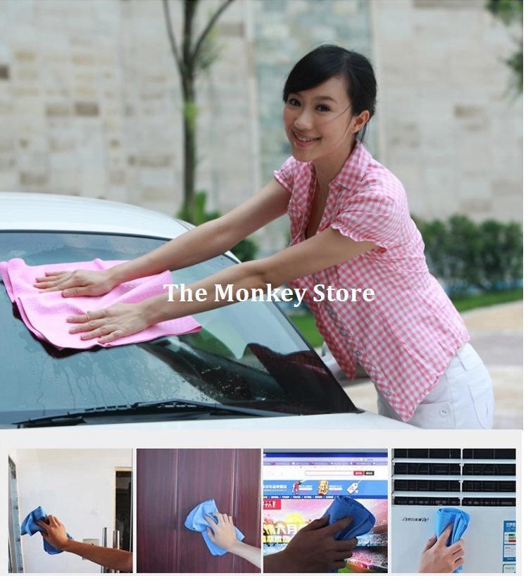 1 Pcs Medium Size Deer Skin PVA Chamois Car Wash Towel Cleaning Shammy Car Dry Hair Towel Cleaning Cloth Belt Bucket F1139(China (Mainland))