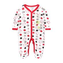 2019 mamelucos para bebés recién nacidos ropa de manga larga para bebés ropa de bebé prendas de vestir de algodón primavera pijama de otoño estrella(China)