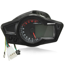 New 12V Universal Motorcycle RPM LCD Digital Odometer Speedometer Tachometer KMH/MPH(China (Mainland))