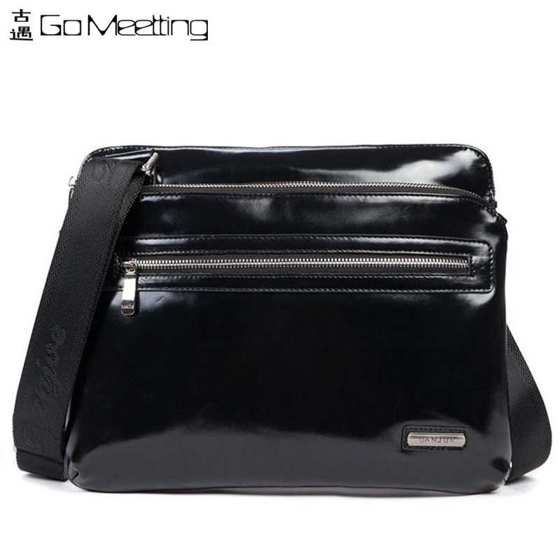 DANJUE Genuine Leather Shoulder Cross Body Bags Ultra-Thin First Layer Cowhide Messenger Bags Men Business Bags<br><br>Aliexpress