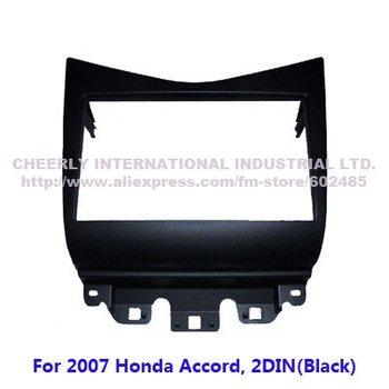 Double DIN Special Car Audio Refitting Frame, Dash Kit, Fascia, Installation Frame, DVD Panel for HONDA 07 Accord 2 Din-Black