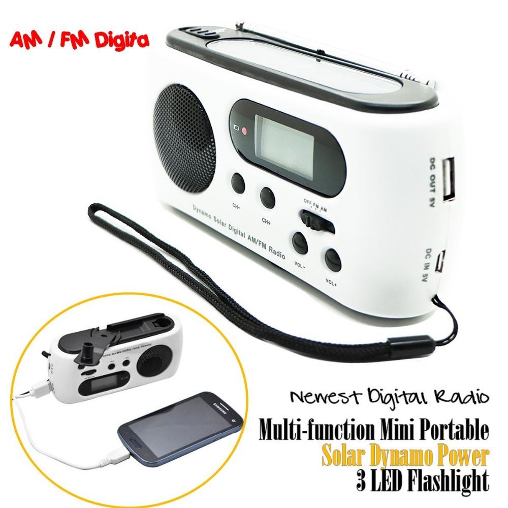 Newest Mini Portable Radio Solar Dynamo Power AM/FM Scan Digital Radio With 3 LEDs Flashlight Phone Charge(China (Mainland))