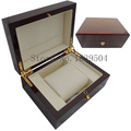 Top Quanlity Light Red Watch Box Wood Without LOGO Metal Lock Paint Luxury Brand Watch Gift