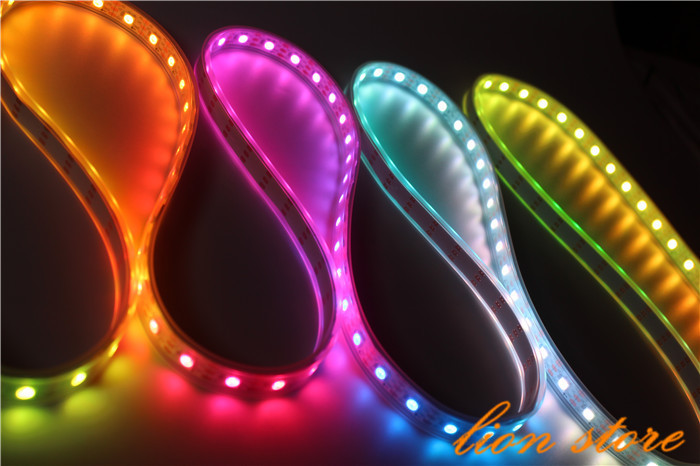 5 Meters Individually Addressable Color WS2812B Waterproof 5050 SMD RGB WS2811 LED Strip White PCB 60 LEDs/M DC 5V(China (Mainland))