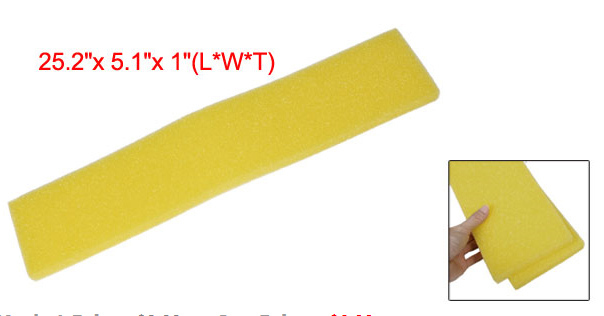 Ffree shipping Fish Tank Aquarium Reused Biochemical Sponges Filter Bio-Sponge Yellow 2 PCS(China (Mainland))