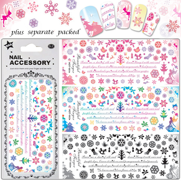 50Sheet lot 2014 NEW 120 different Design Water decals HOT Nail Art Sticker Full Cover Nail