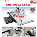 High LY 8060Z 1 5kw water cooled cnc milling machine 4axis CNC engraving machine with USB