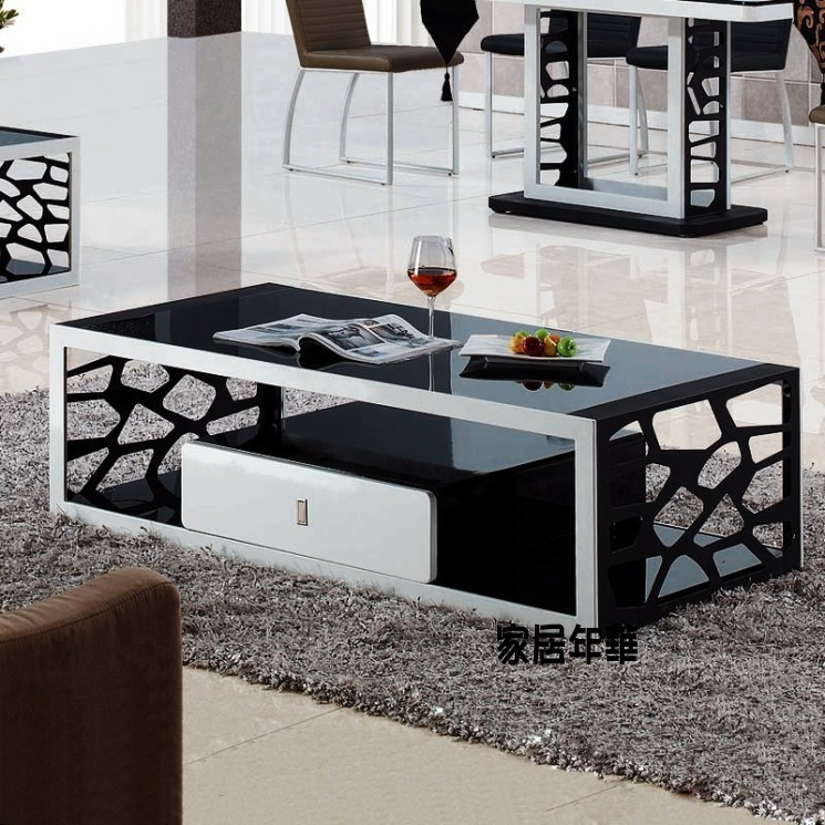 cheap coffee table stylish simplicity glass coffee table 2011 modern storage water cube creative. Black Bedroom Furniture Sets. Home Design Ideas