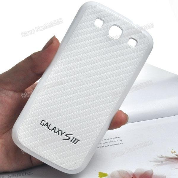 S3 Battery-covered,Housing Back Case with PC Cover For Samsung Galaxy S3 Case i9300  Free Shipping