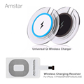 Amstar Qi Wireless Charger Universal Wireless Charging Pad Receiver Pad Coil for iphone 7 7Plus 6s