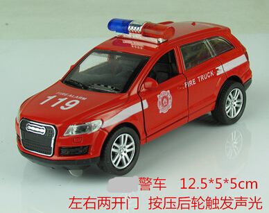 Automotivo 119 A Fire Truck Police Car Brinquedos Kids Toys For Children'S Toys For Kids Model Car The Public Security Police(China (Mainland))
