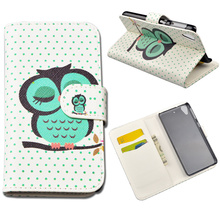 Stylish Flip PU Leather cover For HTC Desire 626 626G 626G+ 626s (with Stand and Card Holder)