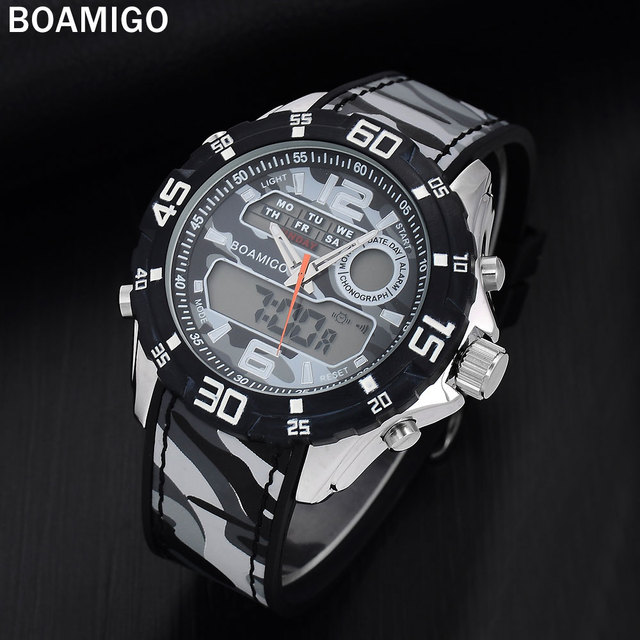 masculino watches quartz digital men band rubber sports luxury amigo product watch boamigo time military dual wristwatches brand super relogio