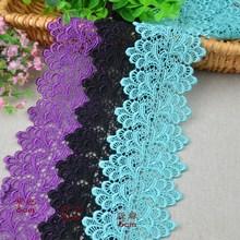 3m/ lot Eyelash Lace Fabric 6cm DIY Decorative High Quality Soft Off Colorful Nylon Eyelash Lace Trim Wedding Dress Fabric Gift(China (Mainland))