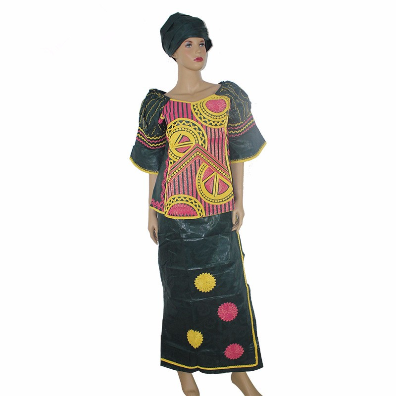 (Free Shipping )African traditional bazin african clothing women bazin riche women dress embroidery craft cotton fabrics scarves(China (Mainland))