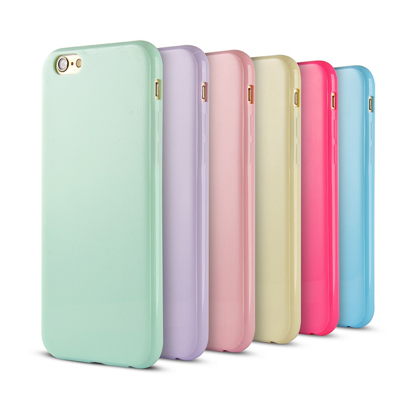 Solid Candy Color TPU Rubber Soft Cover Case iPhone 6 6S Silicone Glossy Back 4.7 inch - Shenzhen GOGO technology co., LTD store
