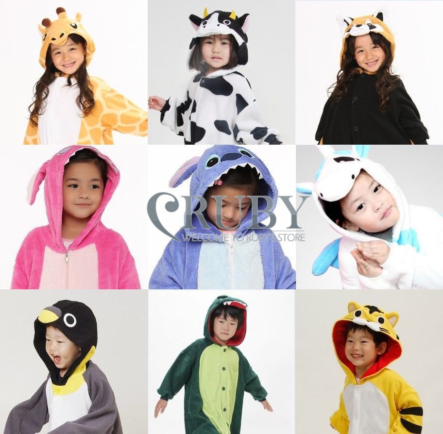 Hot Unisex Children Onesies Fashion Pajamas Animal Cartoon Pyjamas Anime Cosplay Costumes Sleepwears Kids S/M/L/XL/XXL - RUBY TOP 2 store