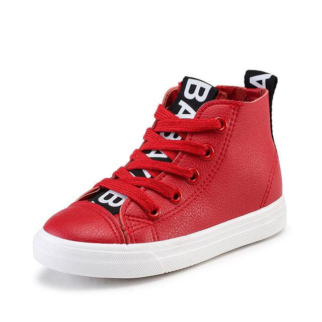 2016 новая весна детская обувь мальчики кроссовки мода дети высокие вершины боковые ...