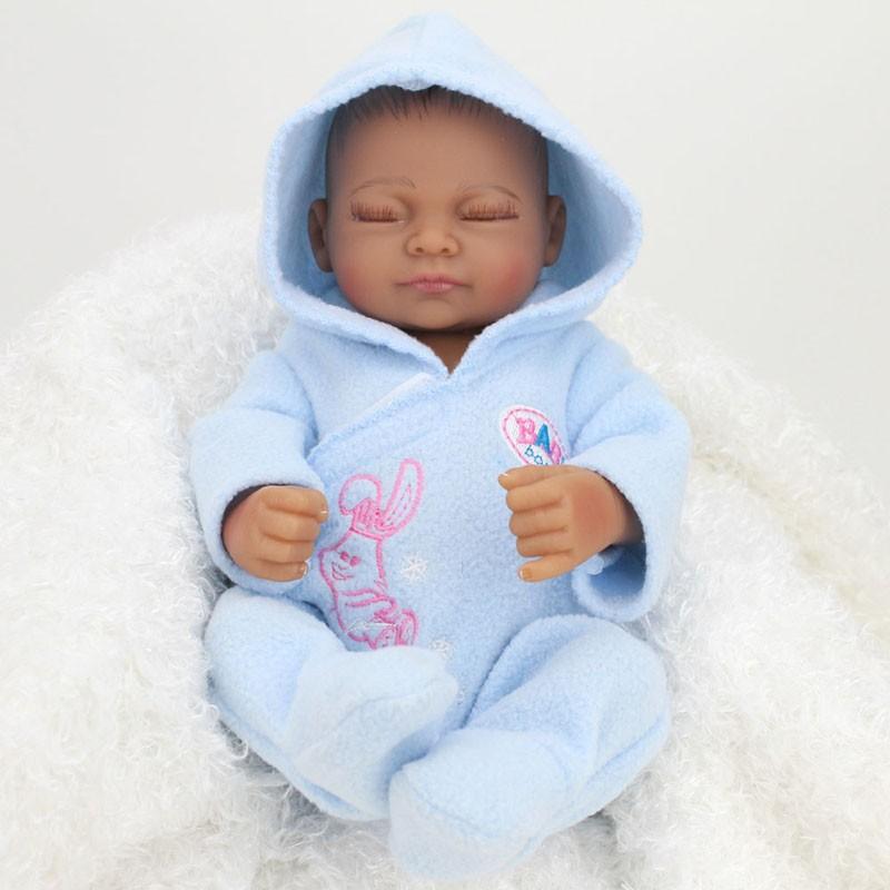 handmade boy baby doll black realistic vinyl alive reborn