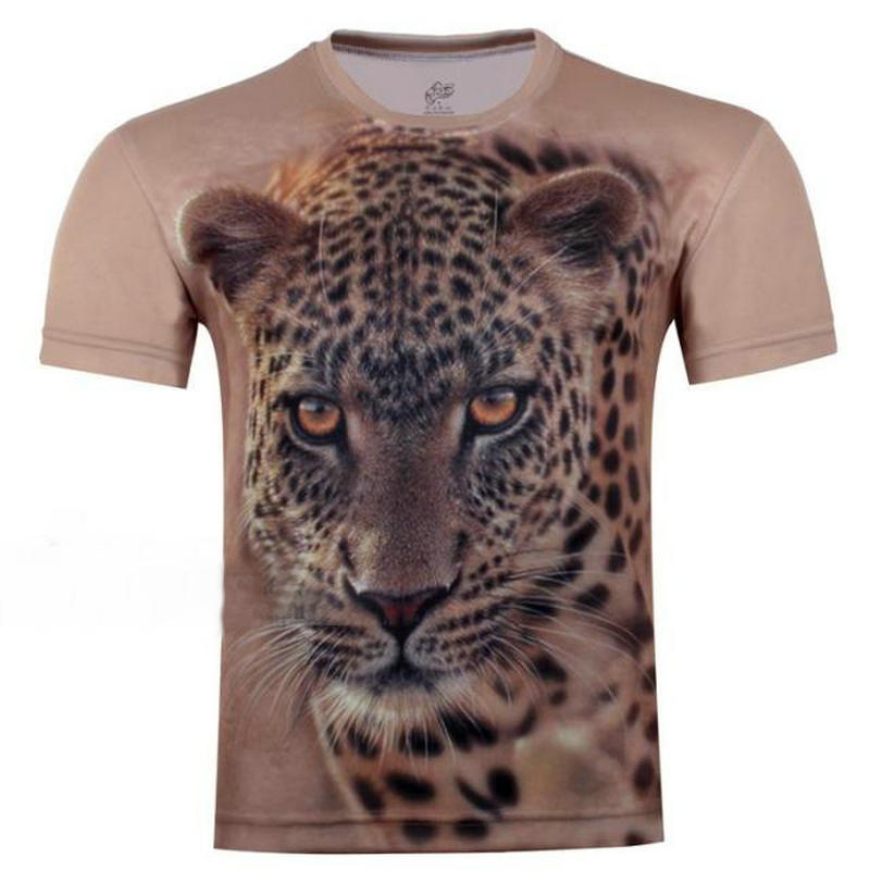 2016 new style boys girls short sleeve t shirt leopard for Leopard print shirts for toddlers