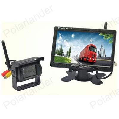 7 inch TFT LCD Wireless Rear View Monitor CMOS IR Night Vision Backup Camera Kit Parking System for 24V Truck Coach Bus