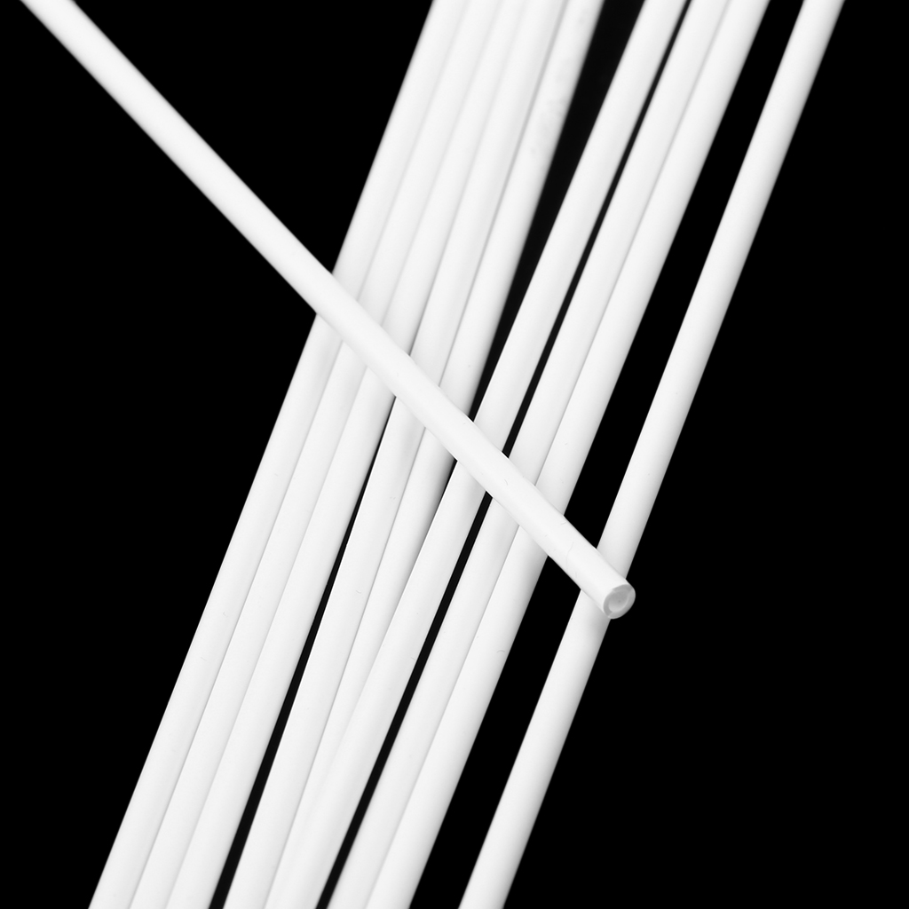 10Pcs 250mm Length ABS Plastic Round Tube Pipe for Architectural Model Making Building DIY Sand Table Model Materials White