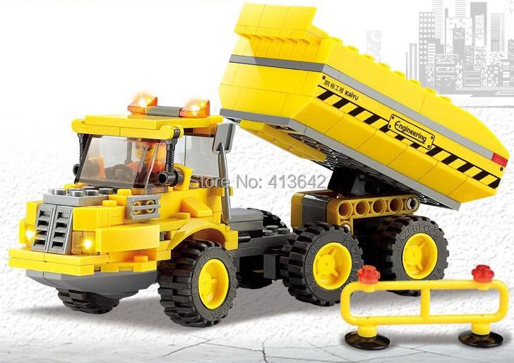Original Box Kazi City Build Series Truck Building Block Sets 181+pcs Enlighten Educational DIY Construction Brick toys No.8043(China (Mainland))