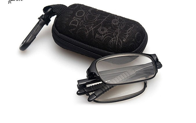 2014 New tr90 women men folding reading glasses ultra-light fashion glasses black red fold display with case(China (Mainland))